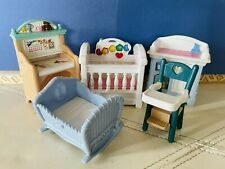 Fisher Price Loving Family Dollhouse Lot Nursery Baby Furniture Kids Bedroom Set