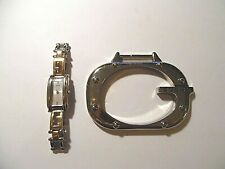 Guess Two Tone Ladies Watch G66355L & Silver Tone Belt Buckle