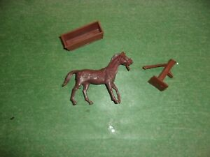 Marx Playset Wagon Train Custers Last Stand Pack Horse Lot