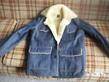 Sears Roebuck Mens 40-R Insulated Lined Jeans Jacket