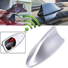 Silver Universal Car Shark Fin Roof FM/AM Sigal Radio Antenna Aerial Auto Decor