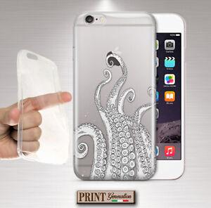 Cover For , Zenfone, Squid, Sea, Clear, Grafitti, Minimalist, Colours, Soft