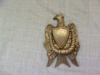 Vintage Penco Brass Door Knocker American Eagle Shield Arrows Wheat