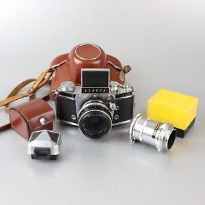 Exakta Varex IIa 35mm camera Carl Zeiss Jena 50mm f2.8 + extension tube/wlf