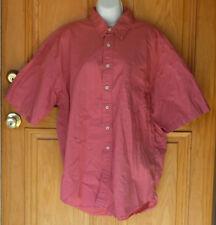 High Sierra Mens Size XL S/S Blush Red Button Front Shirt