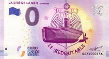 50 CHERBOURG Cité de la Mer 3, Redoutable, N° de la 2è, 2019, Billet 0€ Souvenir