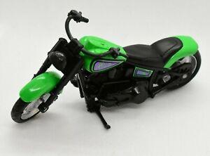 Hot Wheels Fat Ride Green & Black Motorcycle 1:18 Scale