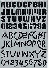 Buchstaben Schablone Nummern Alphabet DIY shabby chic alt Schrift Letters 005
