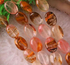 "Good-looking 13X18mm Watermelon Tourmaline Gemstones Oval loose Beads 15"" AAA"