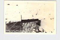 RPPC REAL PHOTO POSTCARD CANADA WHITE PASS AND YUKON RAIL ROAD ROTARY FLEET ON S