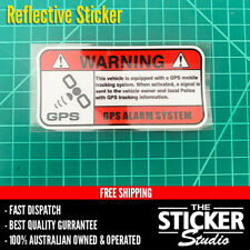 Warning GPS Alarm System Sticker Decal Funny Work Truck Ute Reflective #1