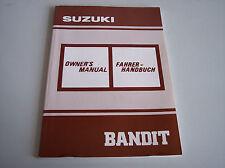 Fahrerhandbuch Bedienungsanleitung Suzuki Bandit in GE/EN Baujahr 1991
