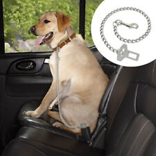 Pet Dog Car Safety Seat Belt Harness Restraint Leads Clip Large Stainless Steel