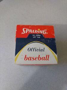 Vintage 1960s Spalding Baseball Sealed In Box LL1