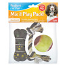 Dog Treat PLAY PACK Squeaky BONE BALL ROPE Toy for Dog Chew Treat Pet Food OTL