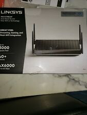 LINKSYS MAX-STREAM AX6000 Mesh Wi-Fi 6 Router, Black MR9610 NEW