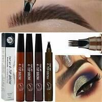Microblading Eyebrow Pencil Fork Tip Sketch Liquid Tatoo Pen Long Lasting Makeup