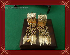 arc miao silver tassels earring 1pair Traditional Tribe handmade hollow out gilt