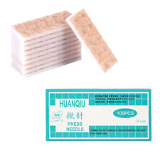 100Pcs One-off Sterile Press Needle Intradermal Needle for Acupuncture Therapy