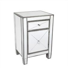 Apolo Bedside  Antique Silver Mirror buffet side table Mirrored furniture