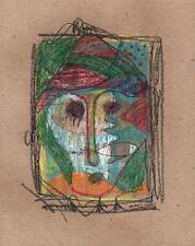 ABSTRAIT VISAGE & poissons dans le style de dessin Picasso 2013 indistinctes signature