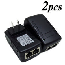 2x 48V 0.5A PoE Injector Power Over Ethernet Adapter for 802.3 af IP Camera Wlan