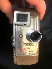 Old Vtg Collectible Keystone 8MM Capri K-30 Nu-6463 Crank Video Camera USA Made
