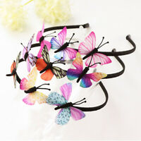 Girls Fairy Princess Hairbands Kids Children Colorful Butterfly Hair Accessories
