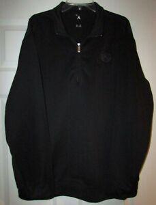 NFL Washington Redskins Team Issued Half Zip LS Black Pullover XL by Antigua