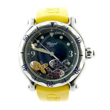 CHOPARD LADYS HAPPY SPORT FISH FLOATING COLORED DIAMOND BOX+PAPERS 28/8374/8-402