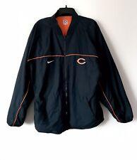 RARE Nike NFL Chicago Bears Windbreaker Fleece Reversible Logo Jacket Size Large