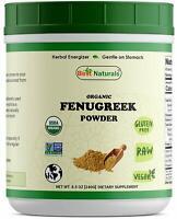 Best Naturals USDA Organic Fenugreek Seed Powder 8.5 OZ (240 Gram)