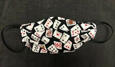 Playing Cards Face Mask Washable, Reversible, 2 Layer Cotton