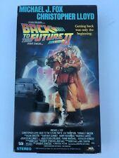 BACK TO THE FUTURE II, CHRISTOPHER LLOYD, MICHAEL J. FOX, VHS 1989