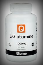 L-Glutamine (free form) 1000mg GI Immune Muscle Brain Energy Mood 120 Day Supply