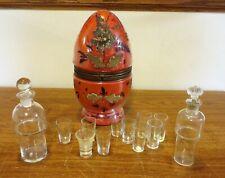 Antique Czech Glass Liquor Decanter & 5 Glasses - Other Misc. Glasses Decanter