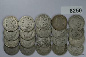 PRE 1921 ROLL MORGAN SILVER DOLLARS CULLS #8250