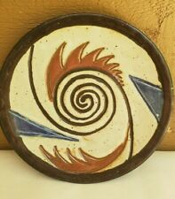 Clay Pottery Plate Handmade Glazed Plate Abstract Southwest Cathy Shelor