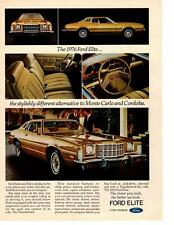 1976 Ford Elite Monte Carlo Cordoba 2-Door Coupe Midsize Cars Division Print Ad