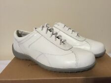 Walking Cradles Cobra Women's Comfort Shoes SIZE US 7 W Lace Up White Leather