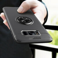 For Samsung Galaxy S20 A71 A51 Hybrid Magnetic Ring Holder TPU+Metal Case Cover