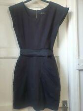 "All Saints ""Alludra"" Black Mini Dress Gathered Front Size UK 6"