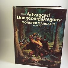 Advanced Dungeons and Dragons Monster Manual II #2016 Official 1983 Gary Gygax