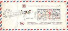 Finland Paavo Nurmi on Dominican Rep. FDC Olympic Games 1957 block overprint