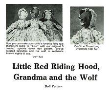 Little Red Riding Hood Grandma Wolf ~Topsy Turvy Rag Doll Pattern