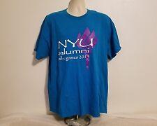 NYU New York University Alumni All U Games 2013 Adult Blue XL TShirt