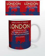 LONDON TIRED OF QUOTE 11 OZ COFFEE MUG TEA CUP POETRY ENGLAND LITERATURE LOVE!!!