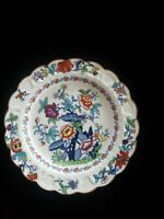 Antique BOOTHS Pompadour Silicon China Dinner  Plate -1920s Hand Painted Floral