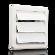 Plastic Air Vent Grille Cover 3 Gravity Flaps Wall Ventilation Grille With Net