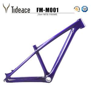 "T800 26er 14"" Cycling Mountain Bicycle Frame Purple/Green BB92 MTB Bike Frames"